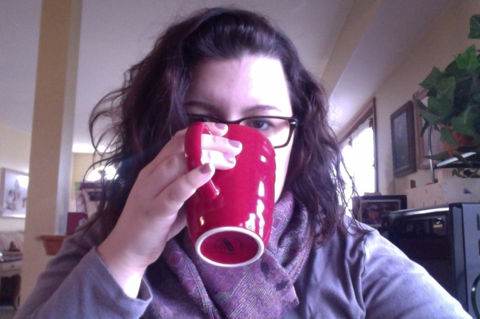 crazy hair and hot chocolate.
