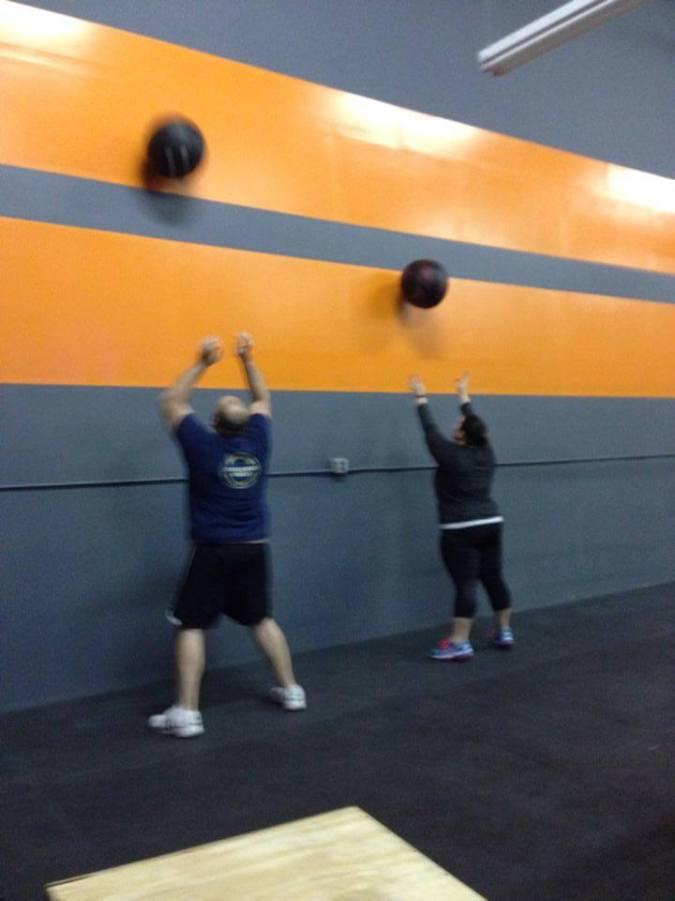 Wall balls at crossfit tonight!
