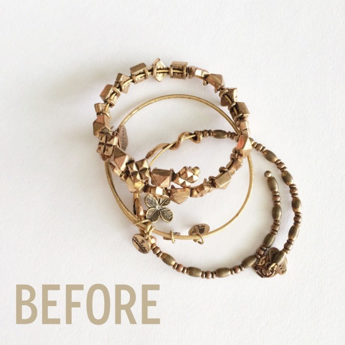 A Pretty Penny - How to Clean Brass Alex & Ani Bracelets - BEFORE