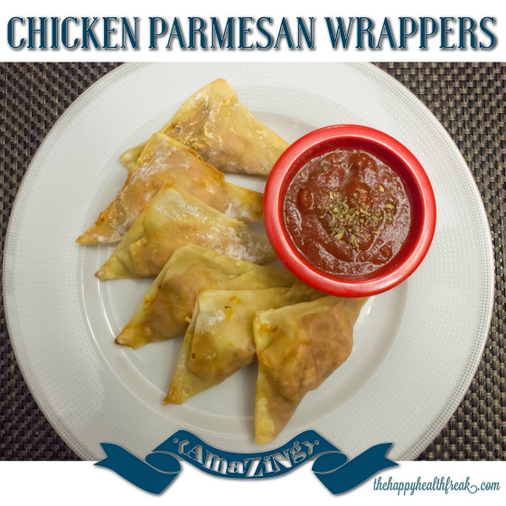 Chicken Parmesan Wrappers ~ www.thehappyhealthfreak.com